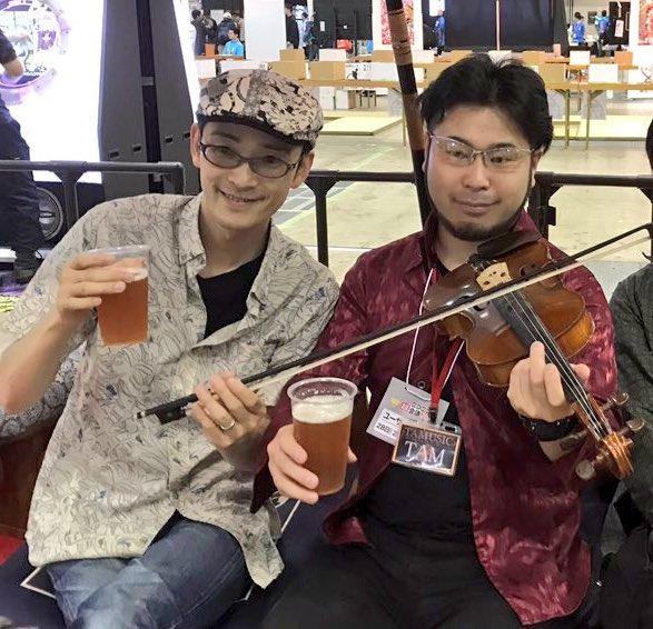 ZUNさんにバイオリン弾いてもらった(^ ^) https://t.co/fWS9raUGw5