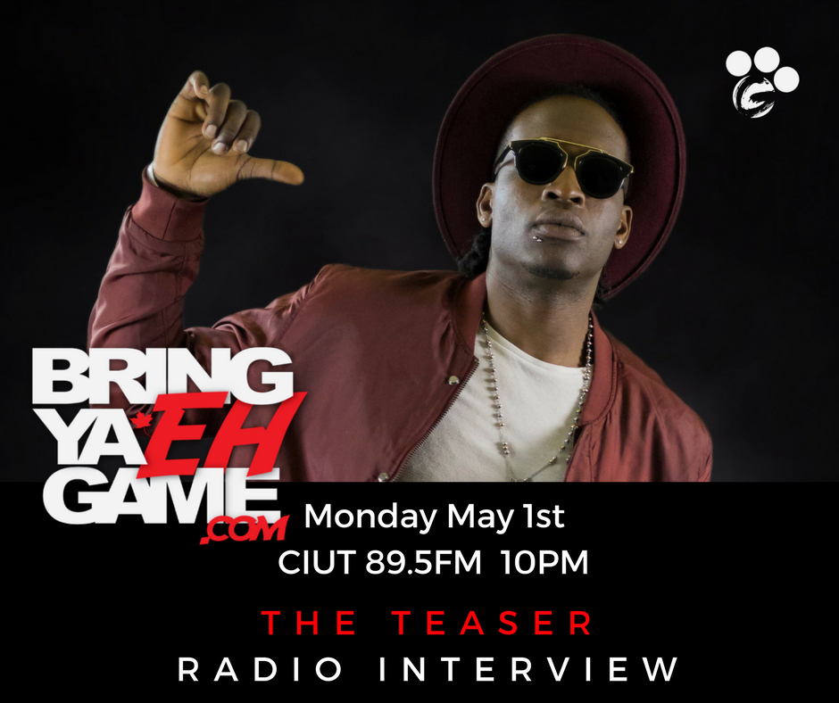 Catch @GoliathPAW on @BringYaEhGame this Monday talking about his new project #TheTeaser! #TuneIn #Toronto #The6ix #Radio #Promo #Ottawa<br>http://pic.twitter.com/F1zM38DMPA