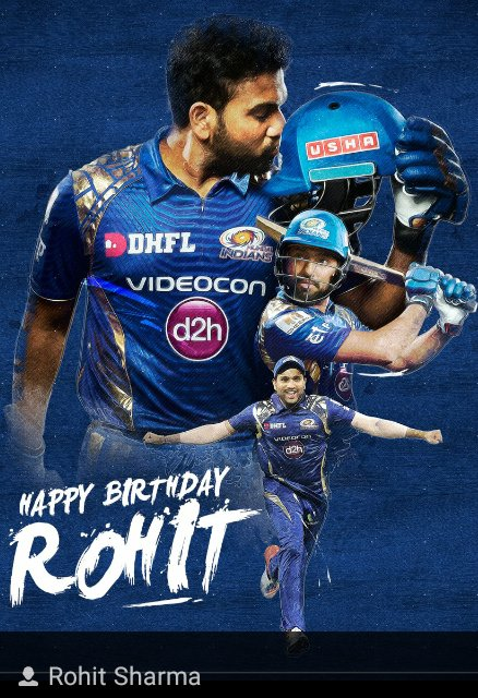 Happy Birthday to ROHIT SHARMA.LET THIS YEAR be a wonderful year to you. Happy Birthday hitman
