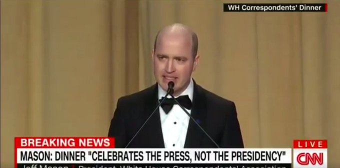 Correspondents' Association president receives standing ovation after saying 'we are not fake news' https://t.co/cHiN4NFv2E
