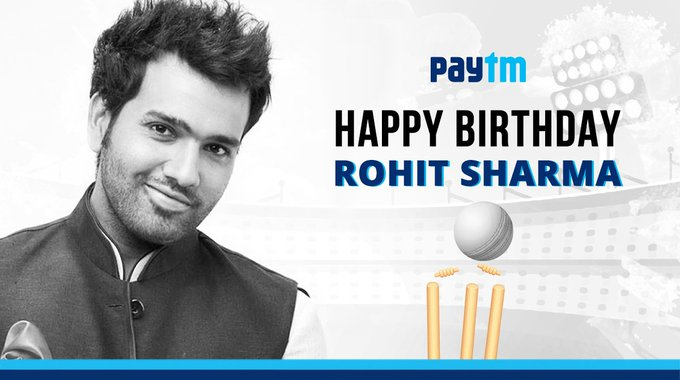 A very Happy Birthday to the hit-man of Indian Cricket - Rohit Sharma!