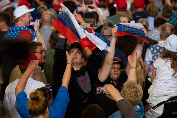WATCH: Russian flags tossed into the crowd at Trump rally https://t.co/V2cuAheHAs