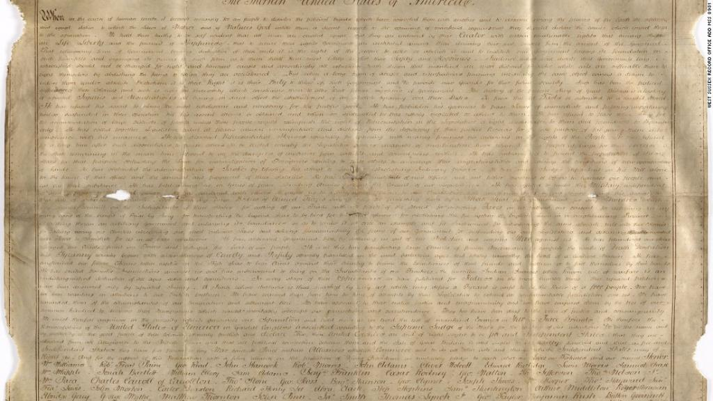A second parchment copy of the Declaration of Independence has been found. In England, of all places. https://t.co/Q5LJODOMdD