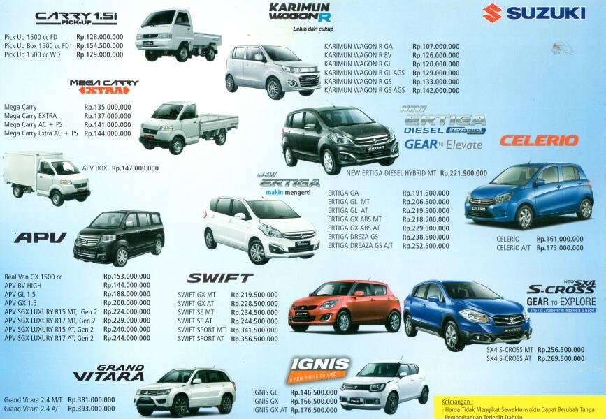 harga terbaru mobil suzuki padang