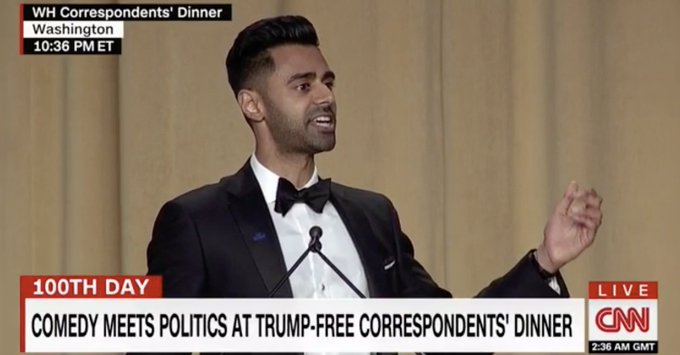 Hasan Minhaj: Trump's in Pennsylvania because 'he can't take a joke' https://t.co/DXwT2ZSUs9
