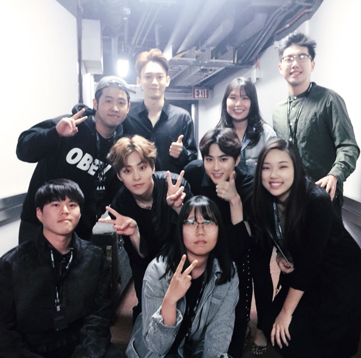 [TRANS]  170430 joyciekim Instagram Update with suho, Xiumin and Chen