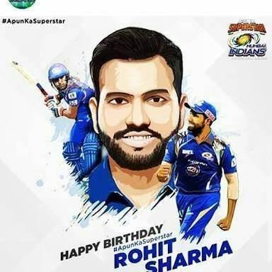 Happy birthday to you my favorite Bateman Rohit sharma garu