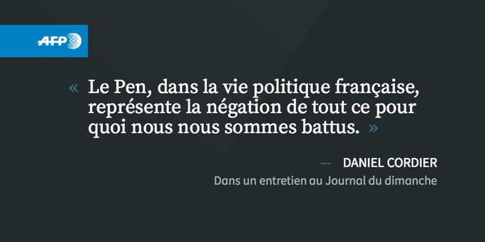 Le Pen présidente? 'Monstrueux', selon l'un des derniers résistants encore en vie https://t.co/OO8LGiq3VS #AFP