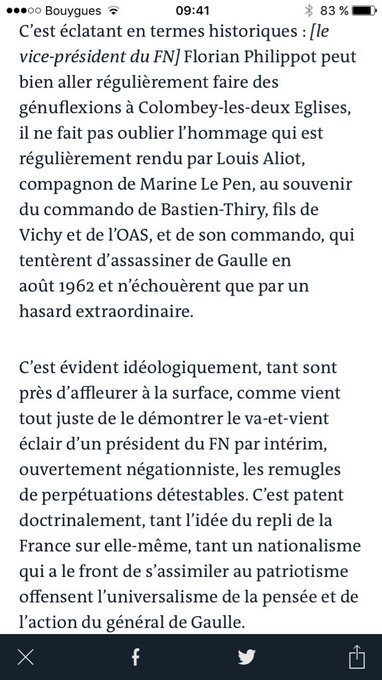 L'imposture de NDA et Le Pen à se revendiquer du gaullisme, par l'historien Jean-Noël Jeanneney dans @lemondefr