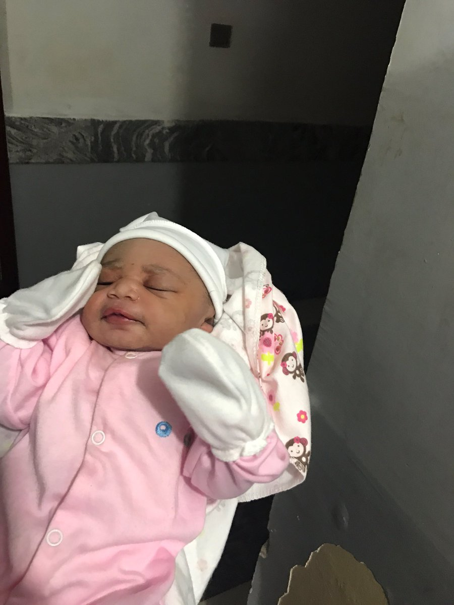 Alhamdulillah! Allah in his infinite mercy has blessed Us with a baby girl today 😁😁😁 both baby and parents are fine.