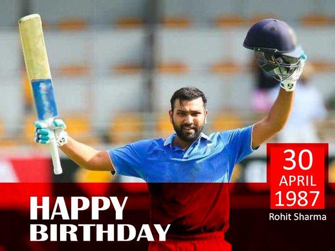 "Wish You A Very Happy Birthday. \""Rohit Sharma\"""