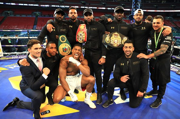 Anthony Joshua Wins fight with Wladimir Klitschko at Wembley the IBF, WBA (Super) and IBO heavyweight at Wembley Stadium