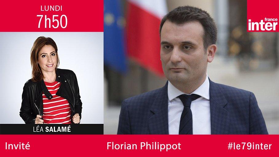 A une semaine du 2d tour, @f_philippot sera demain à 7h50 l'invité de @LeaSalame https://t.co/Ah4mgYKcXC #le79inter #Presidentielle2017
