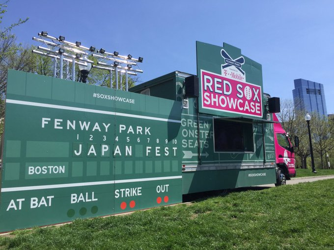 @RedSox Showcase at Boston Common!!