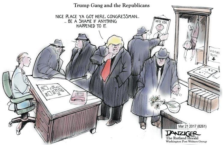 Threatening Congressmen Works On TV.