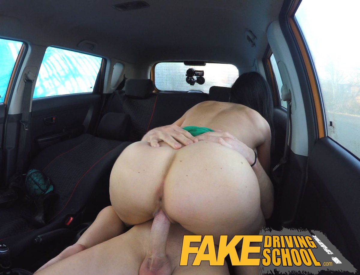 Fake driving school jasmine jae fully naked sex in a car 7