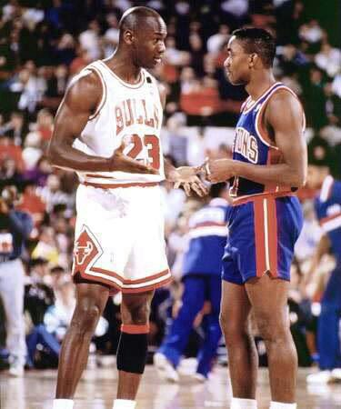 Michael Jordan & Isiah Thomas   1991   Happy Birthday to Isiah Thomas!