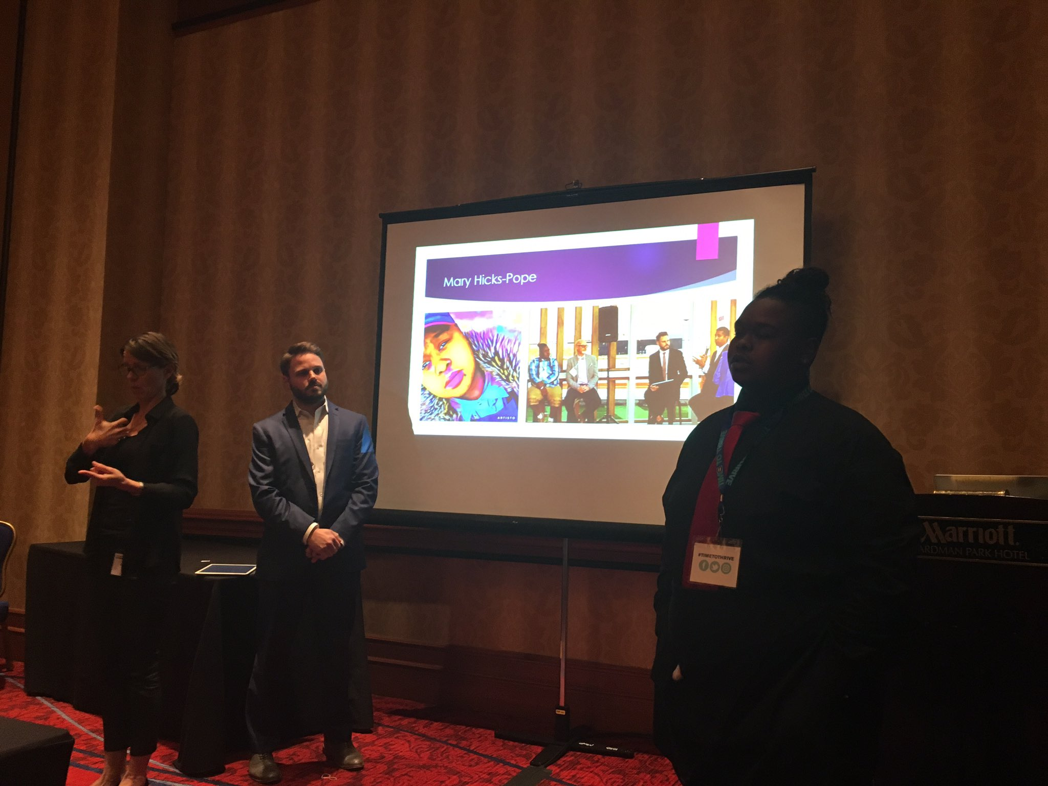 @LGBTTech @chrisbwood presenting with Mary Hicks-Pope on the importance of technology for underprivileged youth #TimeToTHRIVE https://t.co/FtKI5bbGec