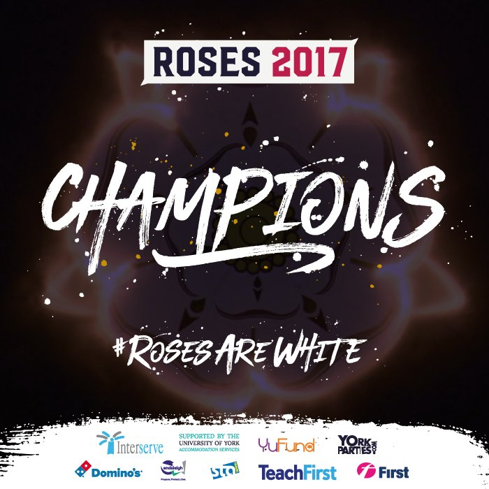 York its Official!!! We're the #Roses2017 CHAMPIONS!!!! #RosesAreWhite https://t.co/0mCOcrEPyp