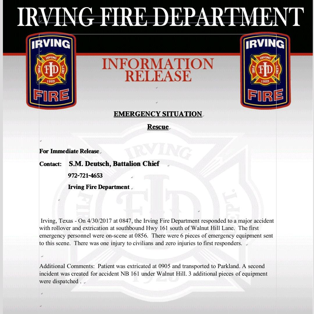 Irving Fire Dept on Twitter: