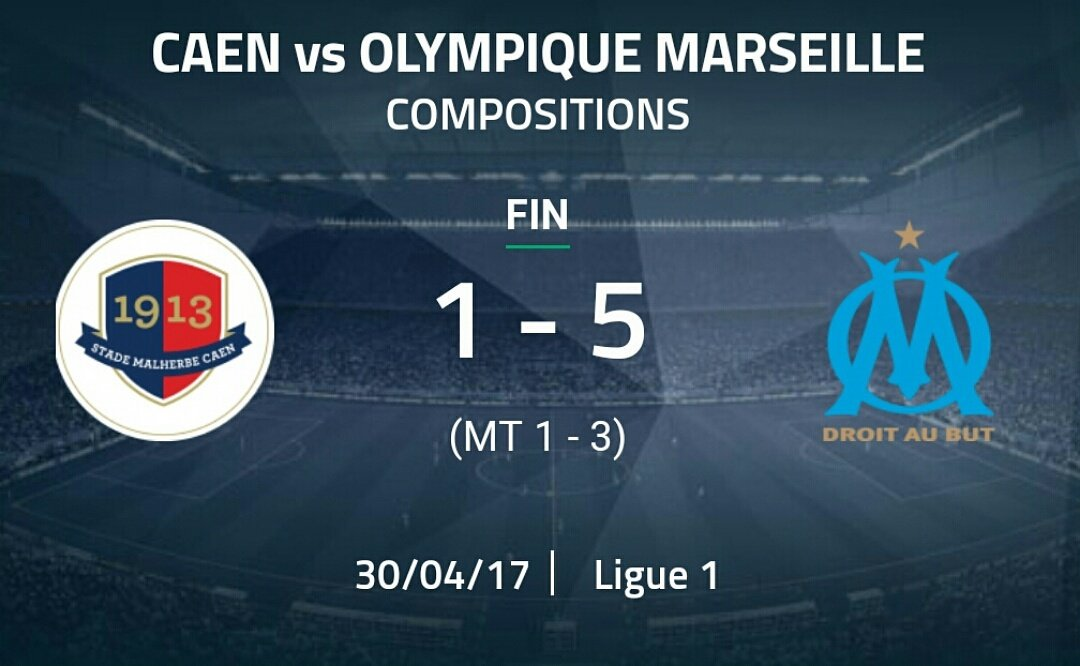 L'OM s'impose 5-1 face à Caen grâce à un triplé de Flo Thauvin et un doublé de Maxime Lopez! #TeamOM #ASNLOM pic.twitter.com/6OXXY77QOy