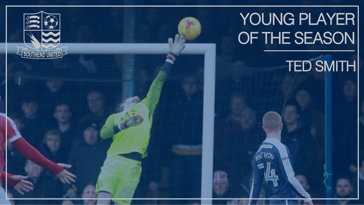 🏆  The Young Player of the Season award is won by goalkeeper Ted Smith...