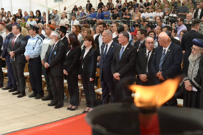 Together we bow our heads in memory of the 23,544 who fell in our nation's battles and the thousands who were killed by murderous terrorists