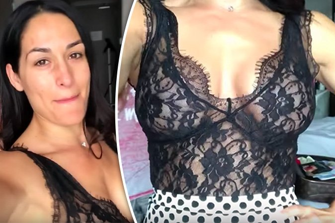 WWE Star Nikki Bella In Major Wedding Dress Wardrobe Malfunction