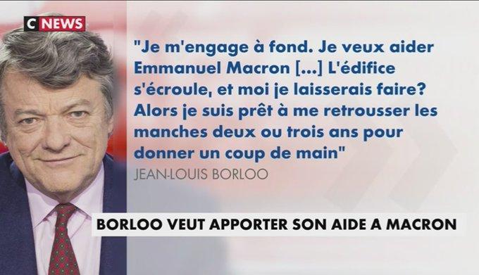 Jean-Louis #Borloo prêt à sortir de sa retraite pour ''aider @EmmanuelMacron' https://t.co/wWhT5P5x2K