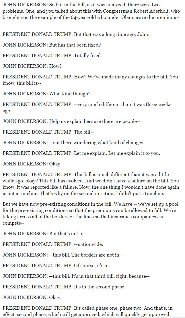 This exchange only makes sense as political humor. And read that way, it's a fiendishly funny caricature.