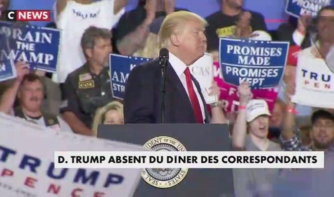 Donald #Trump boude le dîner des correspondants à #Washington https://t.co/rzffnqe4d7