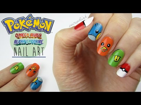 Pokemon Omega Ruby & Alpha Sapphire Nails! #CutePolish #Beauty #Nails