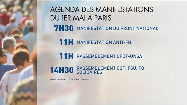 Le point sur les #manifestations du #1erMai à #Paris
