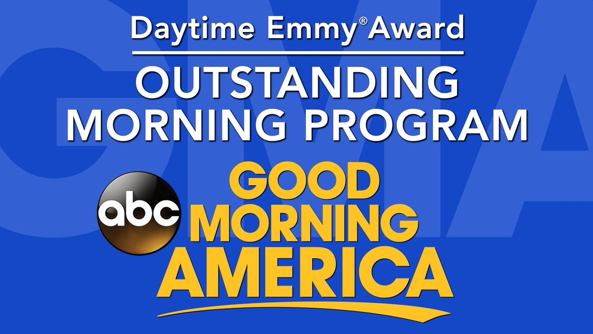 We're honored to be awarded the Daytime Emmy for Outstanding Morning Program! @DaytimeEmmys #DaytimeEmmys