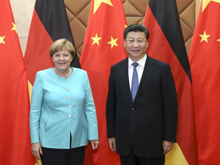China-Germany  - $169 billion trade in 2014 - 14% annual trade growth - German firms employ 1.1 million Chinese - Merkel: 9 trips to China