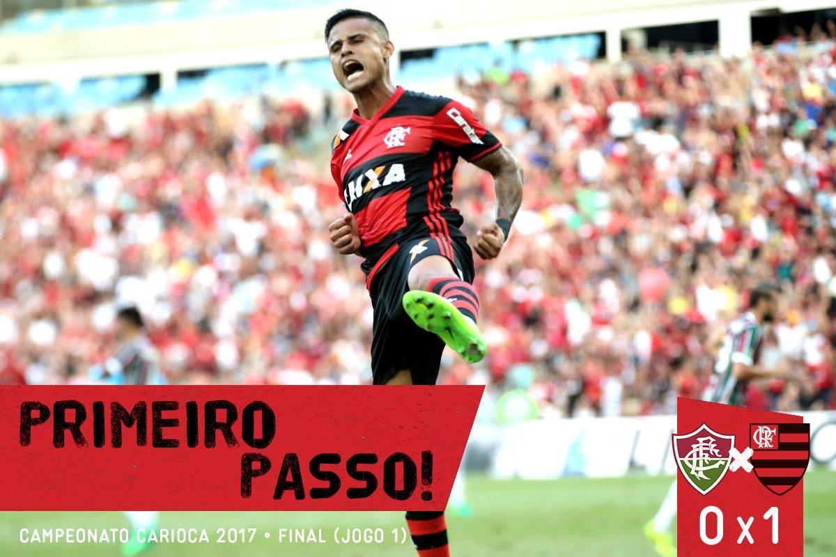FIM DE JOGO! Com gol de Éverton, Mengão vence o Fluminense e sai na frente na decisão: 1x0 #PrimeiroPasso