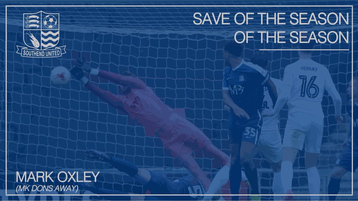 🏆  Save of the Season goes to @markoxley1 for his terrific double stop...