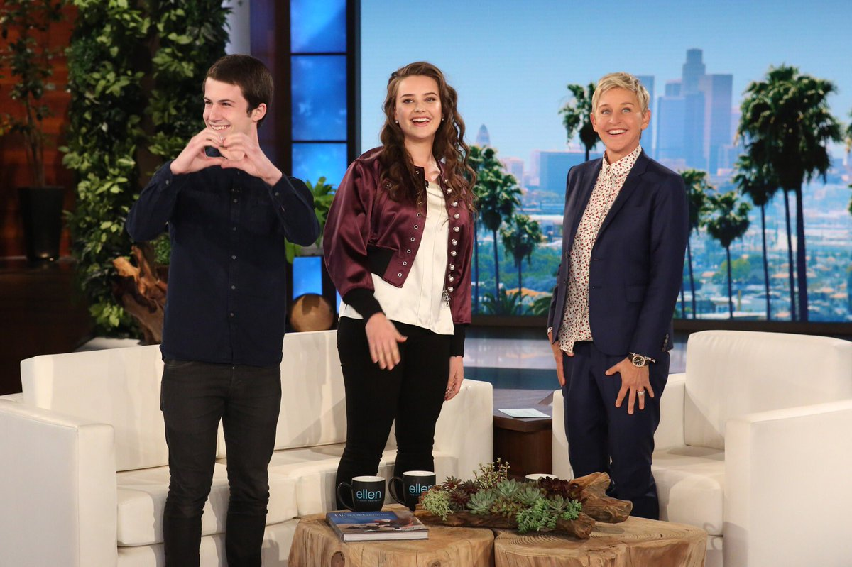 RT @TheEllenShow: Their show is the most tweeted about TV series this year. Tomorrow they're here. #13ReasonsWhy https://t.co/zllNNiWxij