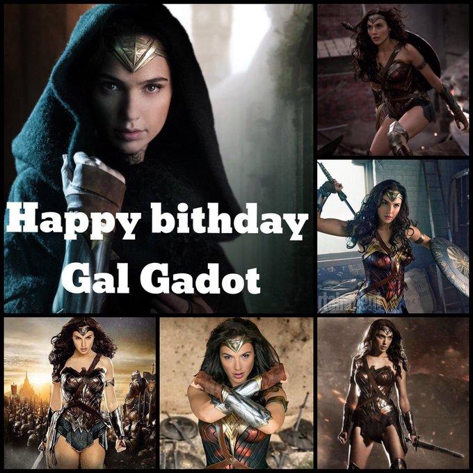Happy birthday to Gal Gadot aka wonder women
