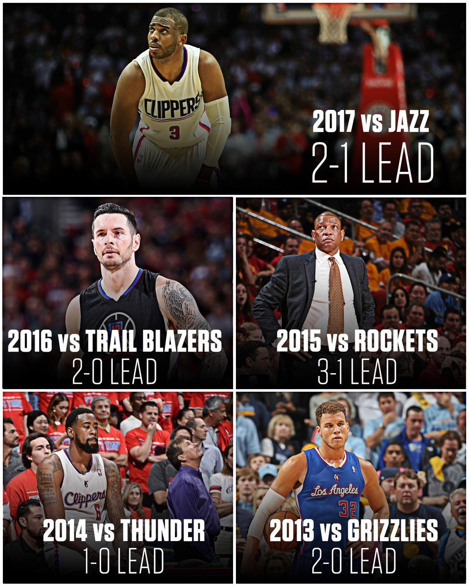 The Clippers are the first team in NBA history to blow a series lead i...