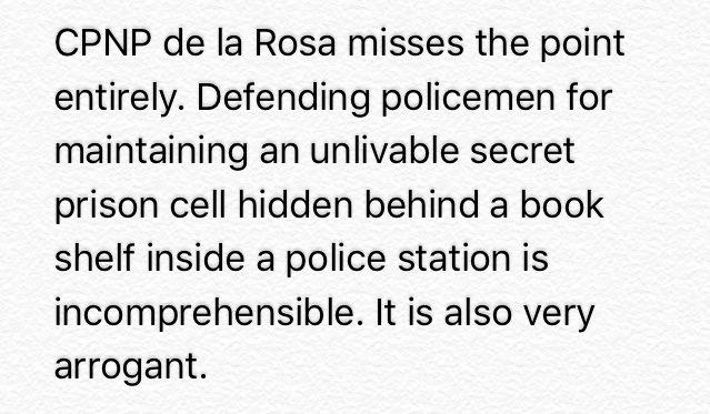 READ:Sen. @iampinglacson sa pagtatanggol ni CPNP Bato sa pulis na may secret cell: Very arrogant. | via @nimfaravelo https://t.co/3280Naq41v