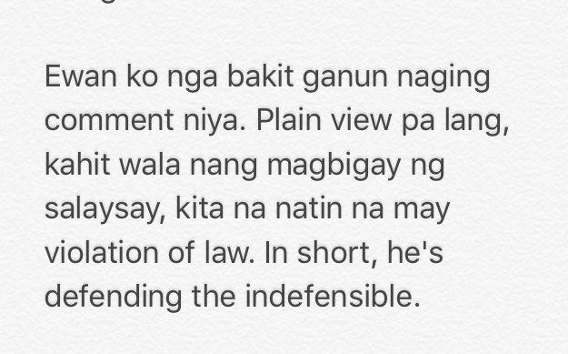 READ: Sen @iampinglacson says Bato is defending the indefensible.  | via @nimfaravelo  https://t.co/B71SbgYISH
