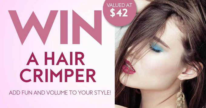 Win a brand new hair crimper!
