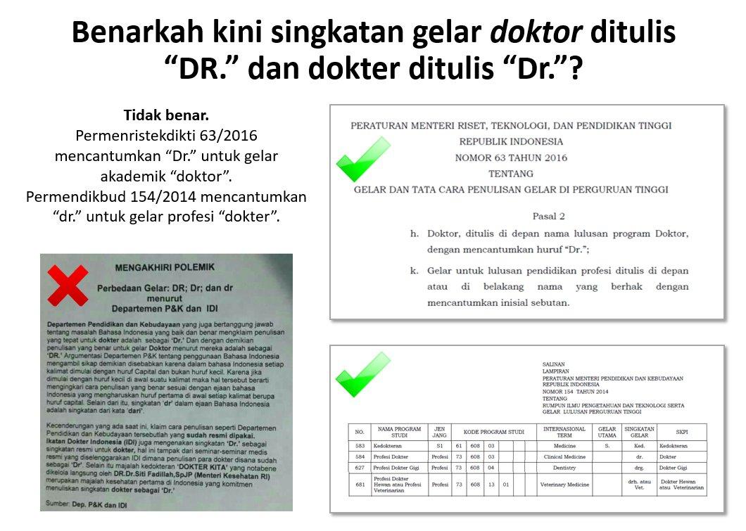 Ivan Lanin On Twitter Doktor Dr Dokter Dr Dokter Gigi