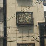 ちょっとした恐怖リラックマの大群が窓からこちらを見ている!