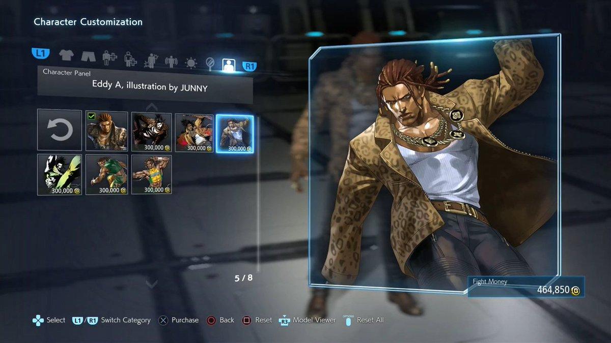 Wonkey On Twitter Tekken 7 Eddy Character Panels Artwork By