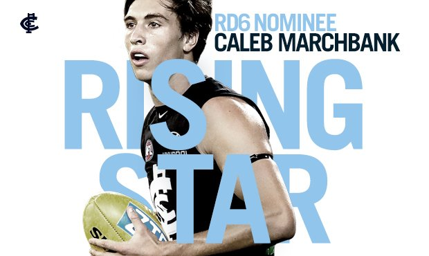 Congratulations to @calebmarchbank, the Round 6 @NAB AFL Rising Star nominee! 🌟 Read more: cfcblu.es/MarchbankRS #BoundByBlue