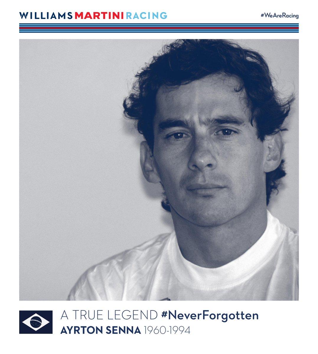 Ayrton Senna - A true legend. Gone but never forgotten. #SennaSempre  #NeverForgotten https://t.co/KjkLWfgagl