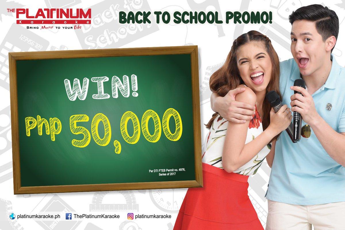 #PlatinumNation! Pwede na kayong manalo ng P50k cash when you buy #platinumkaraoke minimum of P10k in consignment stores!