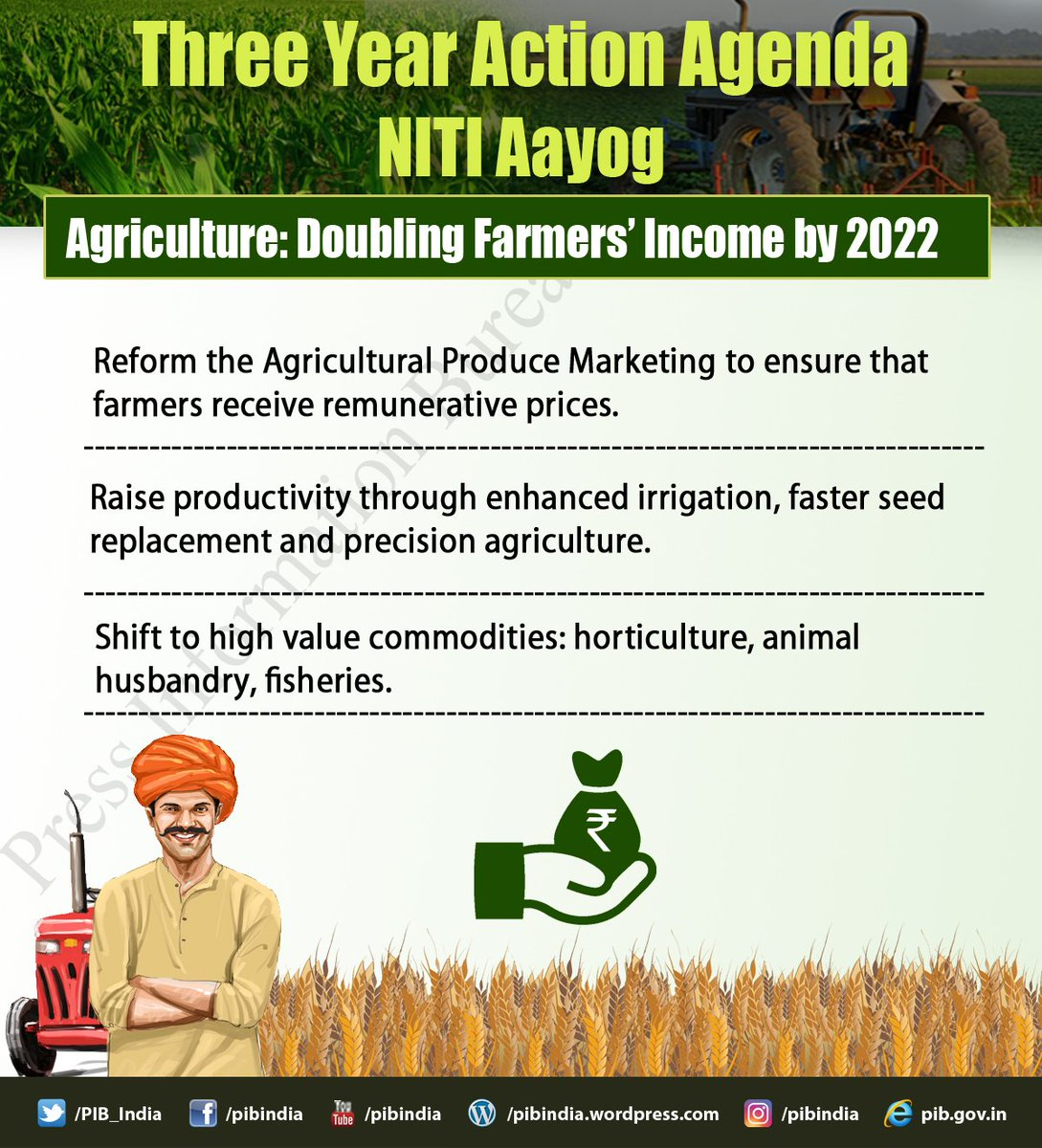 Image result for niti aayog 3 year action agenda agriculture
